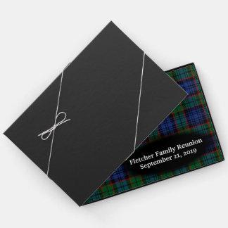 Scottish Clan Fletcher Tartan Plaid Family Reunion Guest Book