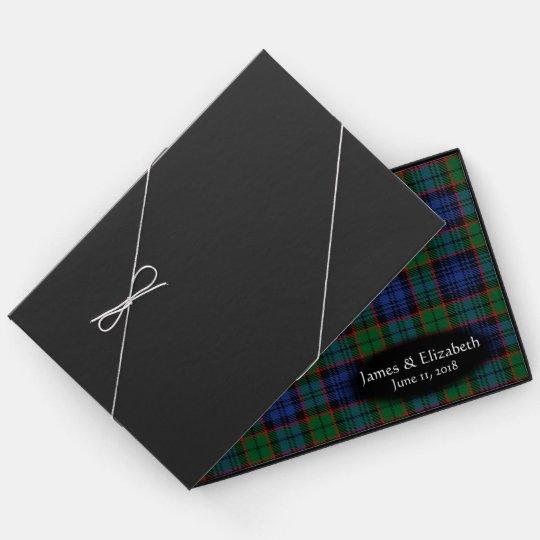 Scottish Clan Fletcher Tartan Plaid Wedding Guest Book