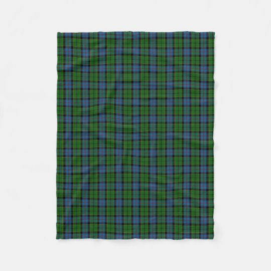 Scottish Clan Forsyth Forsythe Classic Tartan Fleece Blanket