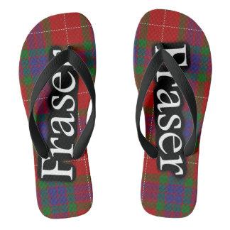 Scottish Clan Fraser Tartan Flop Flops Flip Flops