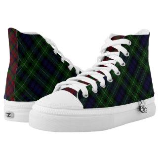 Scottish Clan Graham Three Tartan High-Top Sneaker