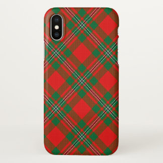 Scottish Clan Gregor MacGregor Tartan Plaid iPhone X Case