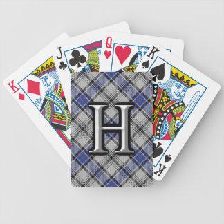 Scottish Clan Hannay Letter H Monogram Tartan Deck Bicycle Playing Cards