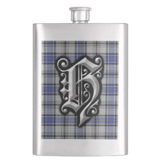 Scottish Clan Hannay Letter H Monogram Tartan Hip Flask