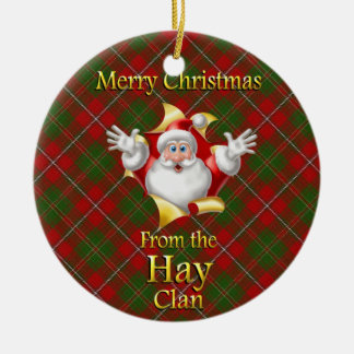 Scottish Clan Hay Christmas Ornament