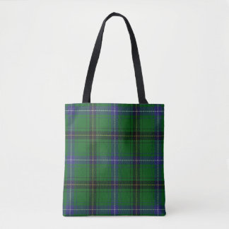 Scottish Clan Henderson Green Blue Tartan Plaid Tote Bag