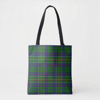 Scottish Clan Hunter Tartan Plaid Tote Bag