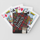 Scottish Clan Innes Tartan Paint Brush Bicycle Playing Cards
