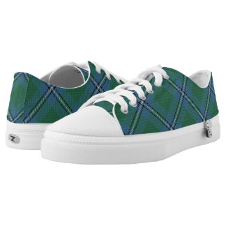 Scottish Clan Irvine Irwin Tartan Low-Top Sneakers