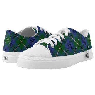 Scottish Clan Johnstone Johnston Tartan Low-Top Sneakers