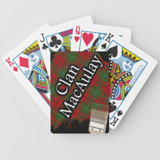 Scottish Clan MacAulay Tartan Paint Brush Bicycle Playing Cards
