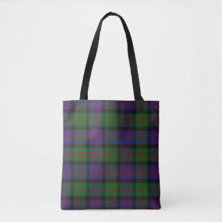 Scottish Clan MacDonald Donald Tartan Plaid Tote Bag
