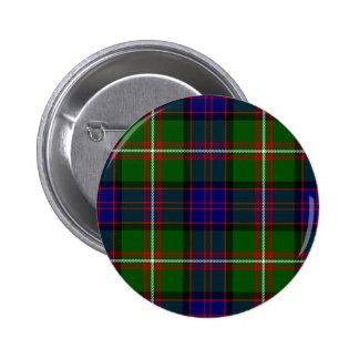 Scottish Clan MacDonald of Clanranald Tartan 2 Inch Round Button