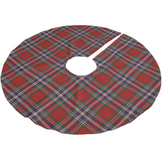 Scottish Clan MacFarlane Red Blue Tartan Brushed Polyester Tree Skirt