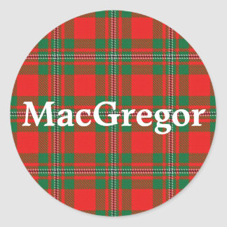 Scottish Clan MacGregor Gregor Tartan Plaid Classic Round Sticker