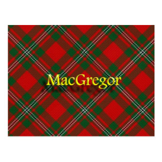 Scottish Clan MacGregor Postcard