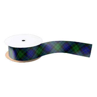 Scottish Clan MacKay Classic Blue and Green Tartan Satin Ribbon
