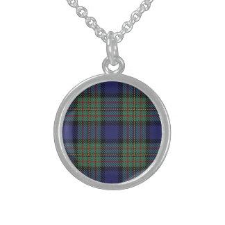 Scottish Clan MacLaren Tartan Plaid Sterling Silver Necklace