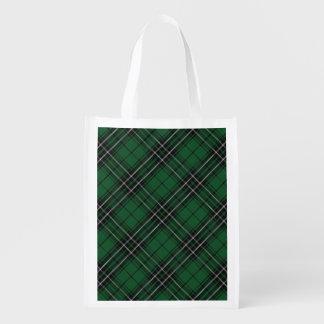 Scottish Clan MacLean Family Tartan Reusable Grocery Bag