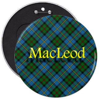 Scottish Clan MacLeod 6 Inch Round Button