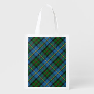 Scottish Clan MacLeod of Harris Family Tartan Reusable Grocery Bag