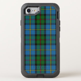 Scottish Clan MacLeod of Harris Green Blue Tartan OtterBox Defender iPhone 8/7 Case