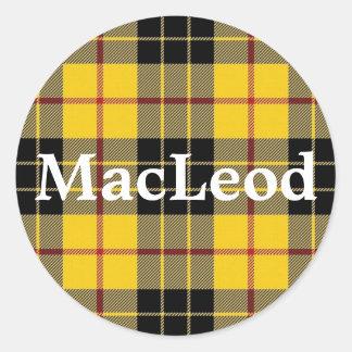 Scottish Clan MacLeod of Lewis Tartan Plaid Classic Round Sticker