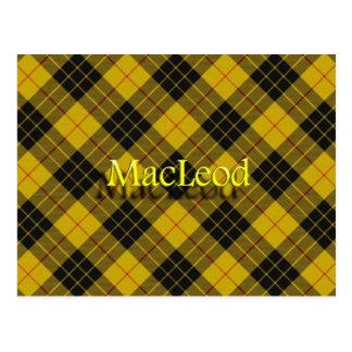 Scottish Clan MacLeod of Lewis Tartan Postcard