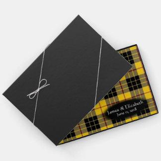 Scottish Clan MacLeod of Lewis Tartan Wedding Guest Book