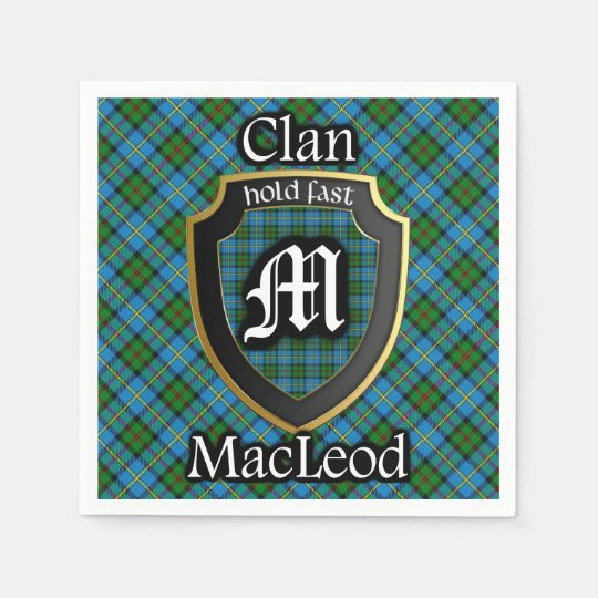 Scottish Clan MacLeod Tartan Napkin Paper Napkins