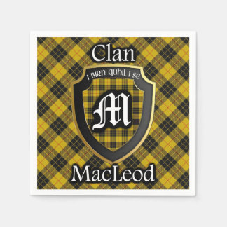 Scottish Clan MacLeod Tartan Napkin Paper Napkins