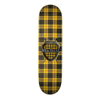 Scottish Clan MacLeod Tartan Shield Custom Skateboard