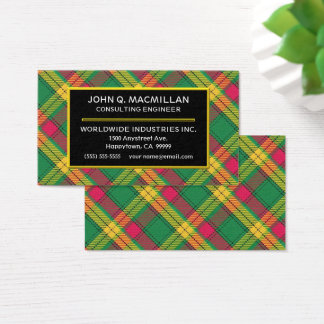 Scottish Clan MacMillan Tartan Plaid Business Card