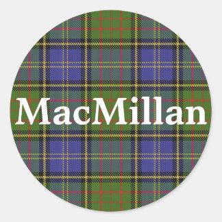 Scottish Clan MacMillan Tartan Plaid Classic Round Sticker