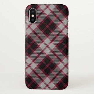 Scottish Clan MacPherson Tartan Plaid iPhone X Case