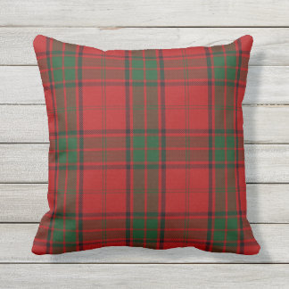 Scottish Clan Maxwell Tartan Outdoor Pillow