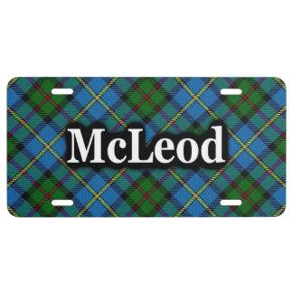 Scottish Clan McLeod MacLeod Tartan Celebration License Plate
