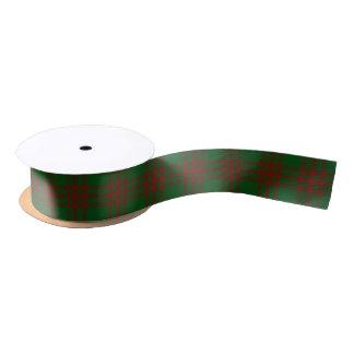 Scottish Clan Menzies Classic Green and Red Tartan Satin Ribbon