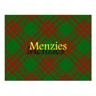Scottish Clan Menzies Postcard