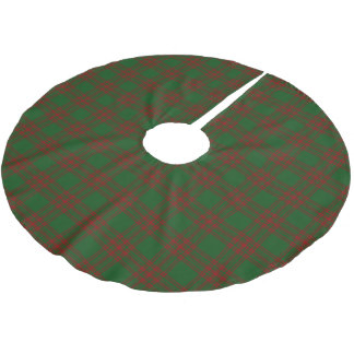 Scottish Clan Menzies Red Green Tartan Brushed Polyester Tree Skirt