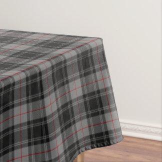 Scottish Clan Moffat Gray Black Red Tartan Tablecloth