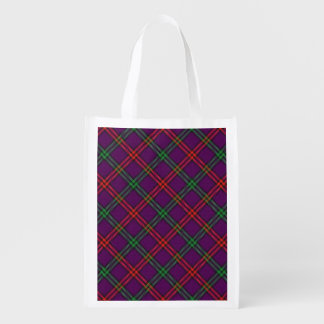 Scottish Clan Montgomery Family Tartan Reusable Grocery Bag