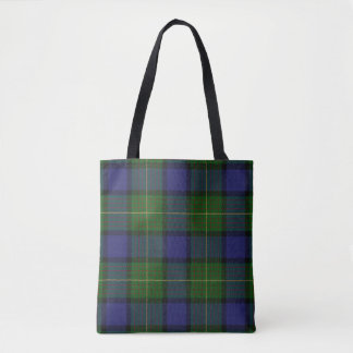 Scottish Clan Muir Tartan Plaid Tote Bag