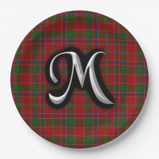 Scottish Clan Munro Tartan Paper Plate