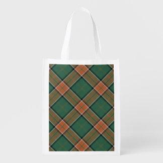 Scottish Clan Pollock Family Tartan Reusable Grocery Bag