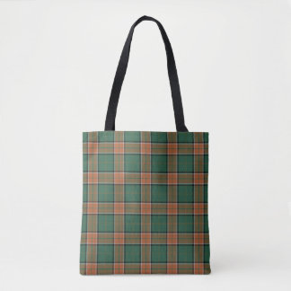 Scottish Clan Pollock Tartan Plaid Tote Bag