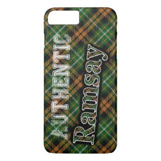 Scottish Clan Ramsay Orange Hunting Tartan iPhone 7 Plus Case
