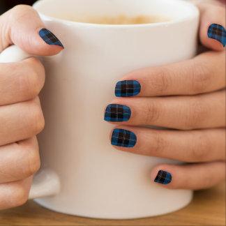 Scottish Clan Ramsay Ramsey Blue Black Tartan Minx Nail Art