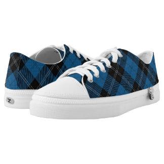 Scottish Clan Ramsay Ramsey Blue Hunting Tartan Low-Top Sneakers