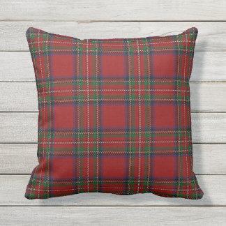Scottish Clan Stewart Red Tartan Throw Pillow